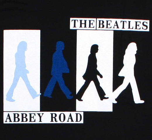 The Beatles / Abbey Road Tee 6 (Black)