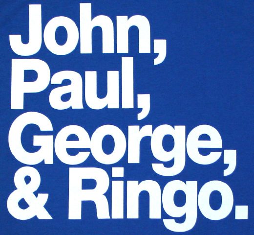 The Beatles / John, Paul, George, & Ringo. Tee (Blue)