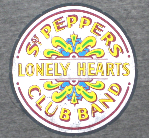The Beatles / Sgt. Pepper's Lonely Hearts Club Band Tee 4 (Charcoal Grey) (Burn Out)