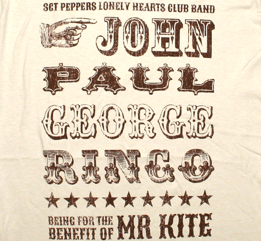 The Beatles / Being for the Benefit of Mr. Kite! Tee (Sand)