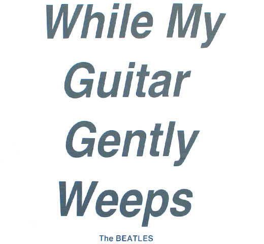 The Beatles / While My Guitar Gently Weeps Tee (White)