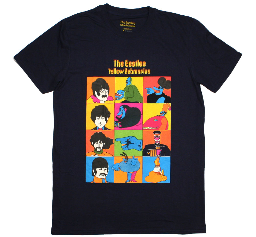 The Beatles / Yellow Submarine Characters Tee (Dark Navy)