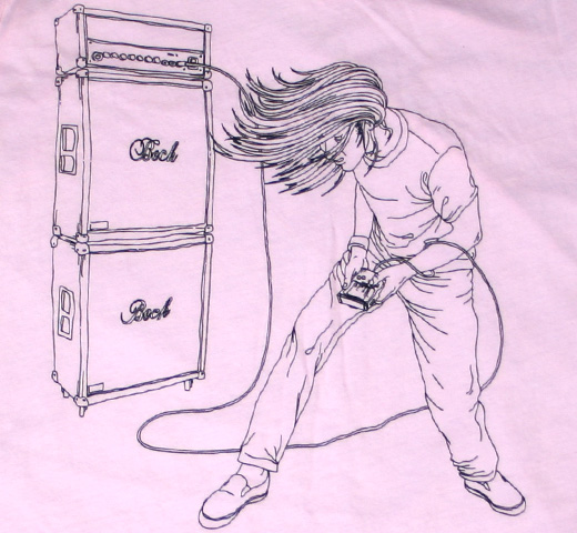 Beck / Headbanger Tee (Pink) (Ladies)