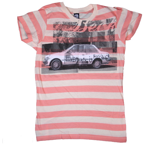 Beck / Horrible Border Tee (Pink) (Ladies)