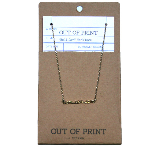 【Out of Print】 I am I am I am Necklace (The Bell Jar)