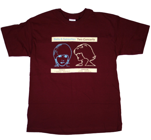 Belle & Sebastian / Two Concerts Tee (Wine)