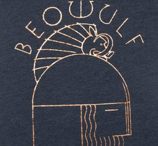 【Out of Print】 Unknown / Beowulf V-Neck Tee (Midnight Navy) (Womens)
