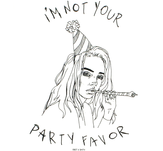 Billie Eilish / Party Favor Tee (White)