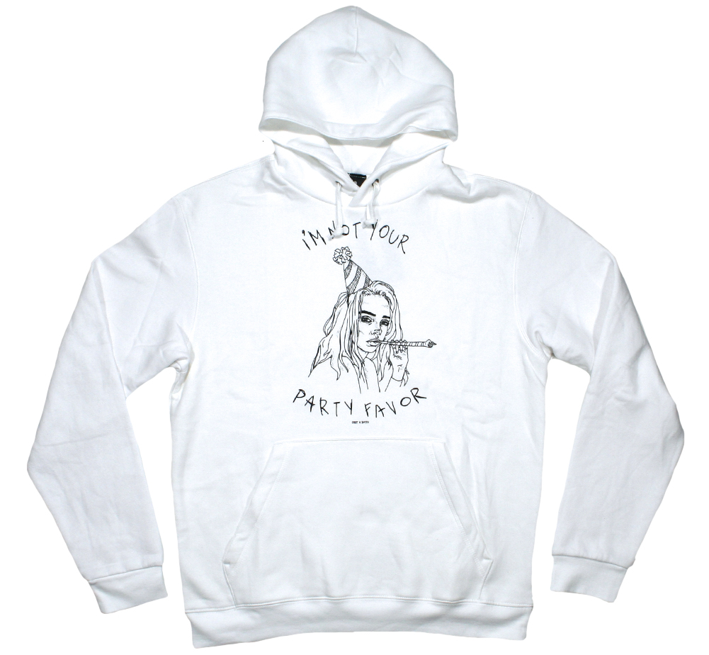 Billie Eilish / Party Favor Hoodie (White)