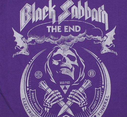 Black Sabbath / The End World Tour Tee (Purple)