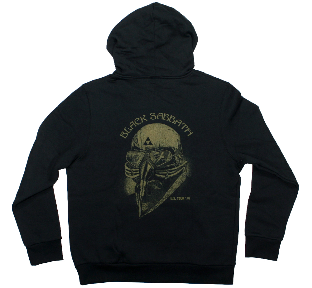Black Sabbath / U.S. Tour '78 Zipped Hoodie (Black)