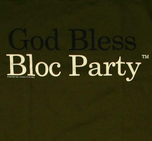 Bloc Party. / God Bless Tee