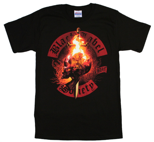 Black Label Society / Flaming Skull Tee