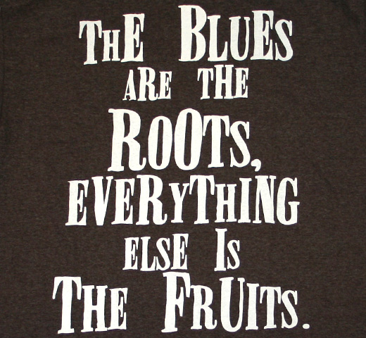 Blues Are The Roots Tee (Heather Brown)