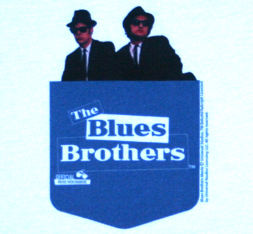 The Blues Brothers / Blue Pocket Tee (White)