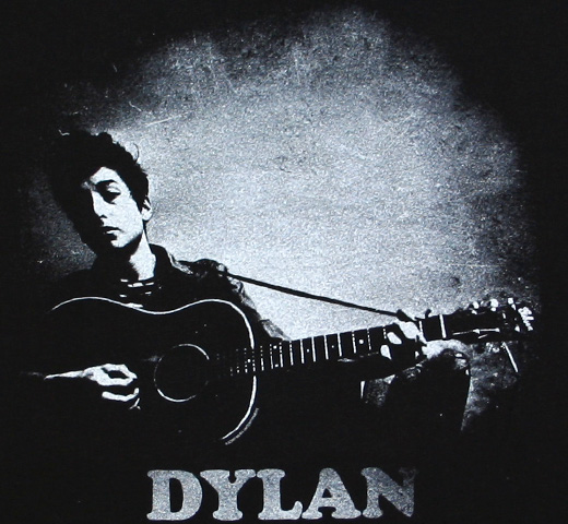 Bob Dylan / Playing Guitar Tee (Black)