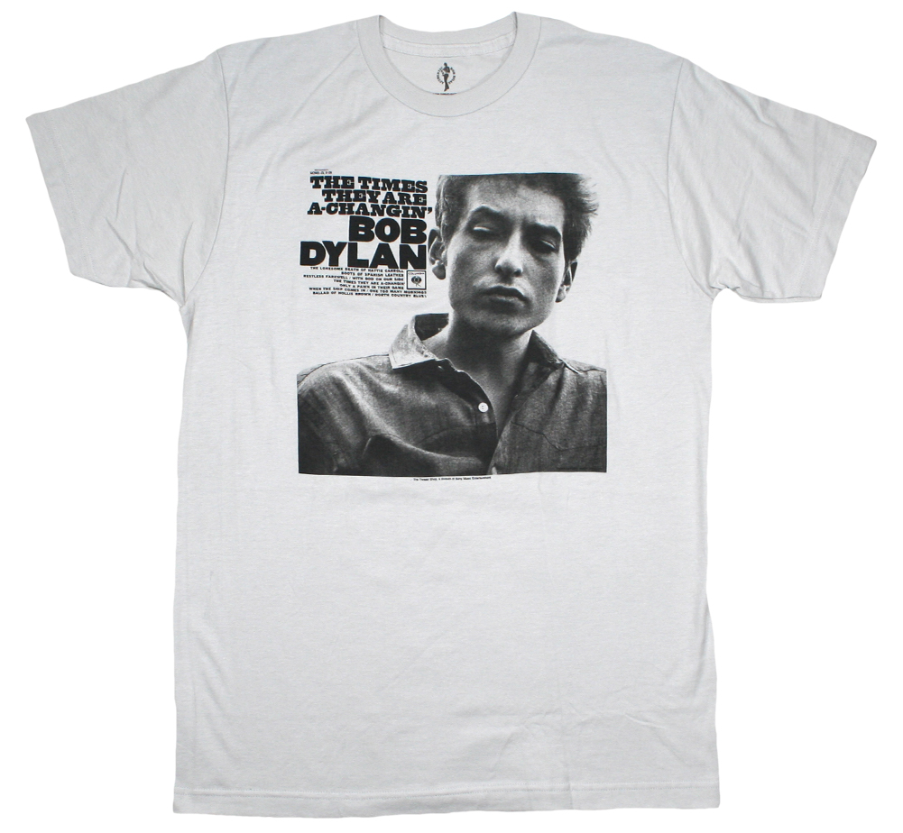 Bob Dylan / The Times They Are A-Changin' Tee (Silver)