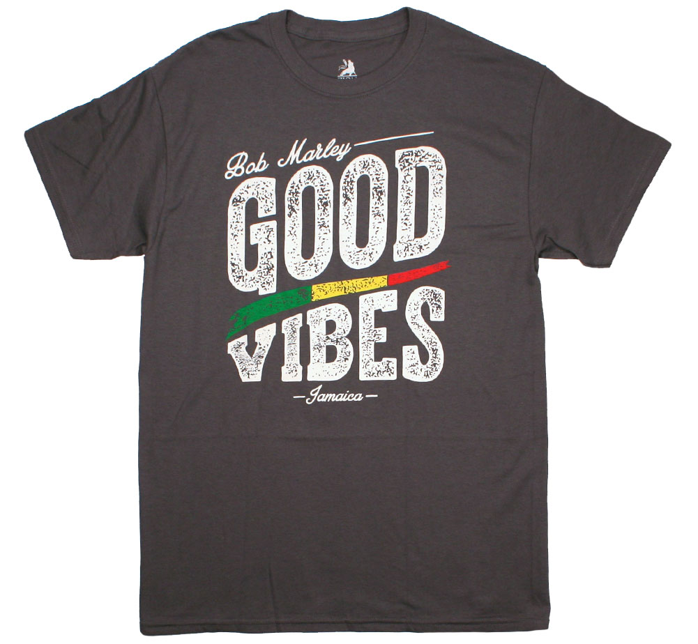 Bob Marley / Good Vibes Tee (Charcoal Grey)