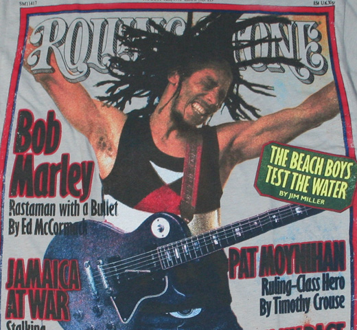 【Rolling Stone】 Bob Marley / Issue 219 Tee (Grey)