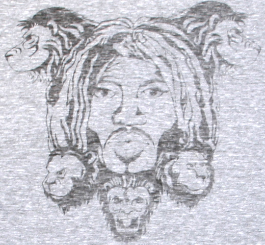 【Worn Free】 Bob Marley / Lions Tee (Heather Grey)