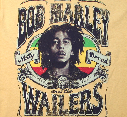 Bob Marley / Natty Dread Crown Tee (Gold)