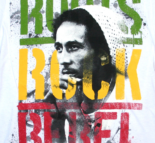 Bob Marley / Roots Rock Rebel Tee (White)