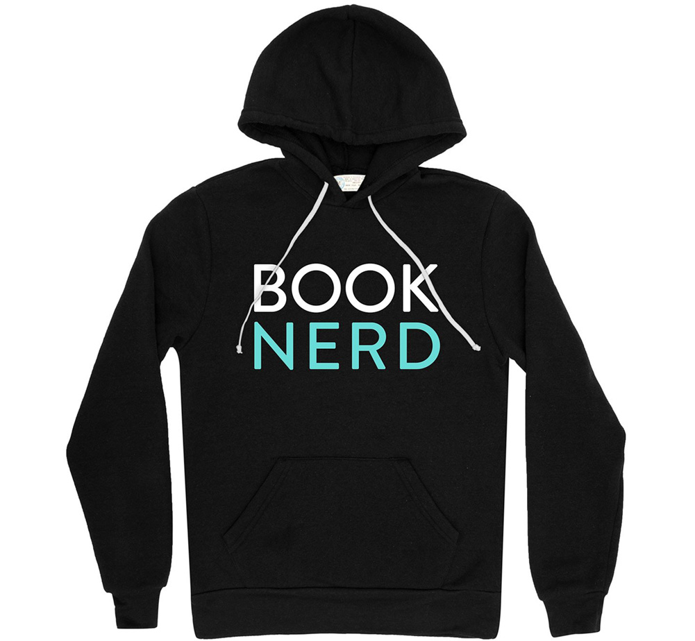 [Out of Print] Book Nerd Hoodie (Black)