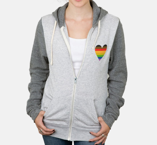 [Out of Print] Book Nerd Pride Zip Hoodie (Oatmeal/Grey)