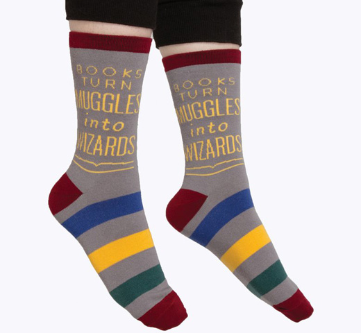 [Out of Print] Harry Potter Alliance / Books Turn Muggles Into Wizards Socks