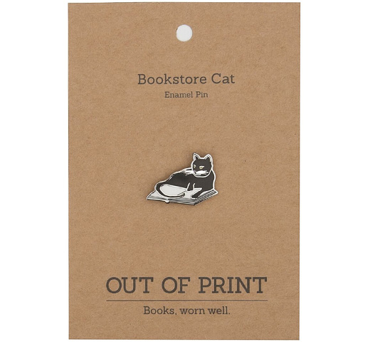 【Out of Print】 Bookstores. Cats. Life is Sweet. Enamel Pin