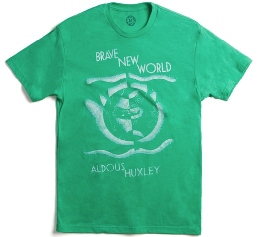 [Out of Print] Aldous Huxley / Brave New World Tee (Green)