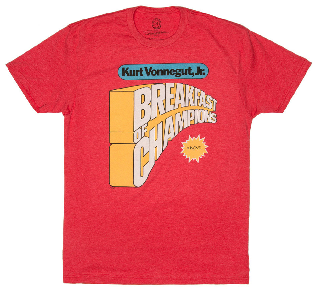 【Out of Print】 Kurt Vonnegut / Breakfast of Champions Tee (Red)