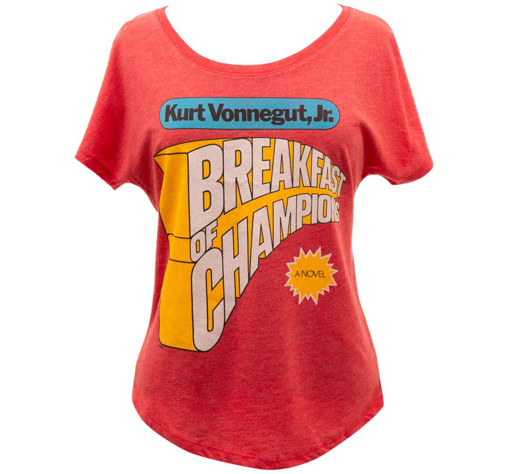 [Out of Print] Kurt Vonnegut / Breakfast of Champions Womens Relaxed Fit Tee (Vintage Red)