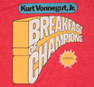 【Out of Print】 Kurt Vonnegut / Breakfast of Champions Tee (Red) (Womens)