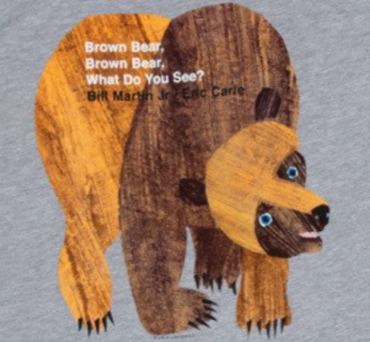 【Out of Print】 Bill Martin, Jr. and Eric Carle / Brown Bear, Brown Bear, What Do You See? Tee (Heather Grey)