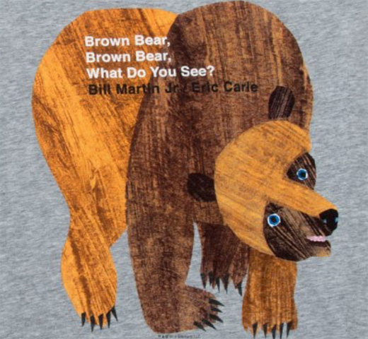 【Out of Print】 Bill Martin, Jr. and Eric Carle / Brown Bear, Brown Bear, What Do You See? Scoop Neck Tee (Heather Grey) (Women
