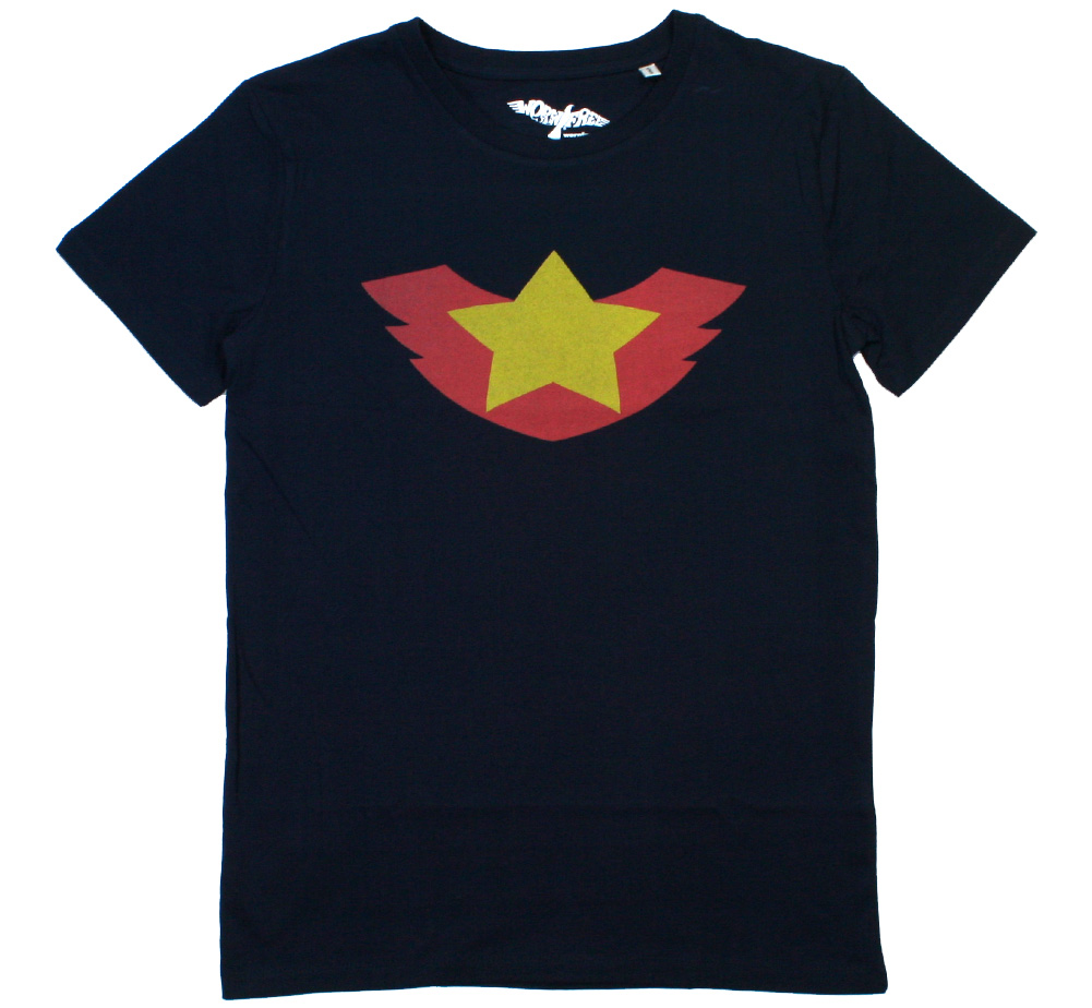 【Worn Free】 Bruce Lee / Winged Star Tee (Dark Navy)
