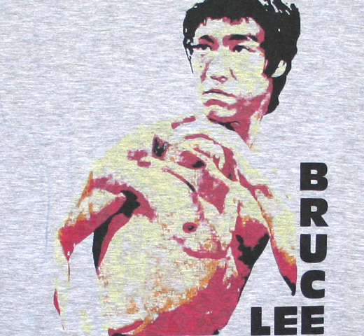 【Worn Free】 Bruce Lee / Portrait Tee (Heather Grey)