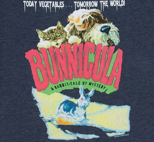 [Out of Print] Deborah Howe and James Howe / Bunnicula: A Rabbit-Tale of Mystery Tee (Midnight Navy)