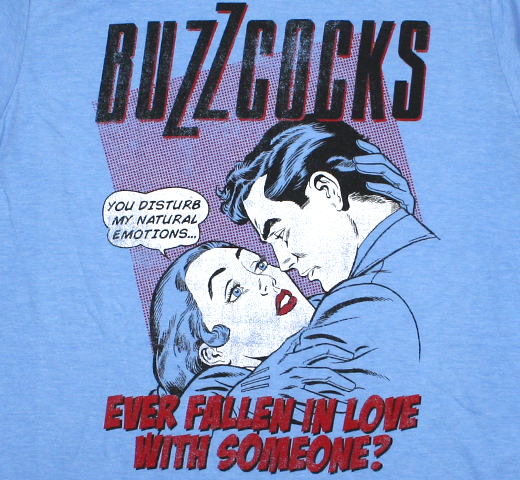 Buzzcocks / Ever Fallen in Love with Someone? Tee (Heather Blue)
