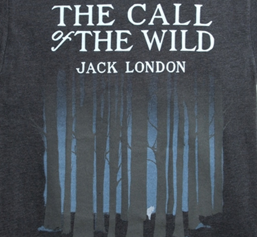 [Out of Print] Jack London / The Call of the Wild Tee (Charcoal)