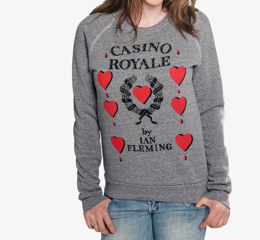 【Out of Print】 Ian Fleming / Casino Royale Sweatshirt (Grey)