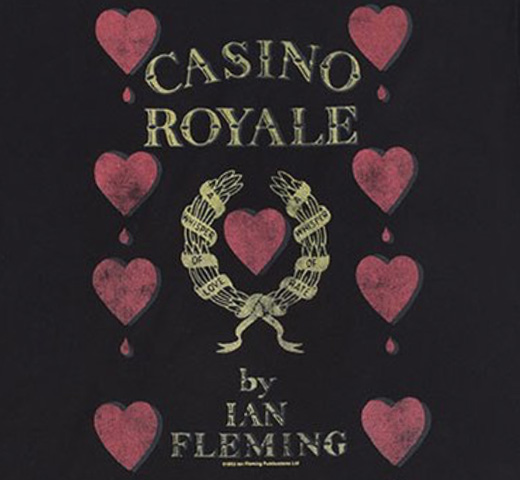 【Out of Print】 Ian Fleming / Casino Royale Scoop Neck Tee (Black) (Womens)