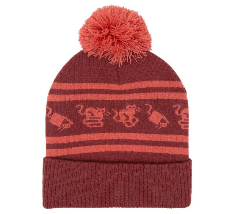 [Out of Print] Cats and Stacks Beanie