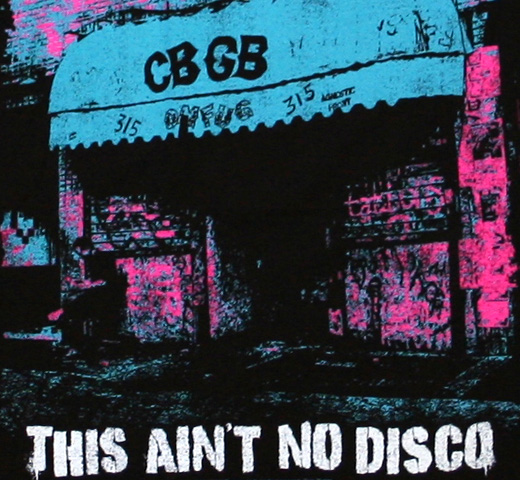 CBGB & OMFUG / THIS AIN'T NO DISCO Tee (Black)