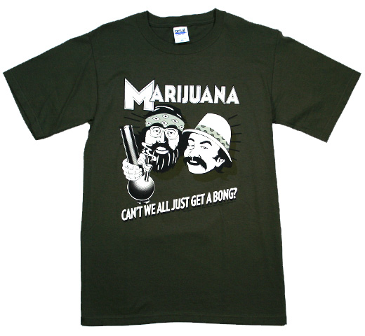 Cheech & Chong / Can't We All Just Get a Bong? Tee (Military Green)