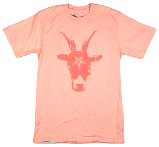 【Worn Free】 Chris Stein / Goat Tee (Peach)