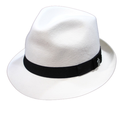 【Christys'】 Michael Jackson / Fedora Hat (White)