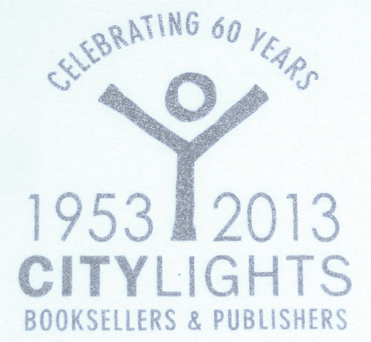 [City Lights Bookstore] CELEBRATING 60 YEARS Tee (White)