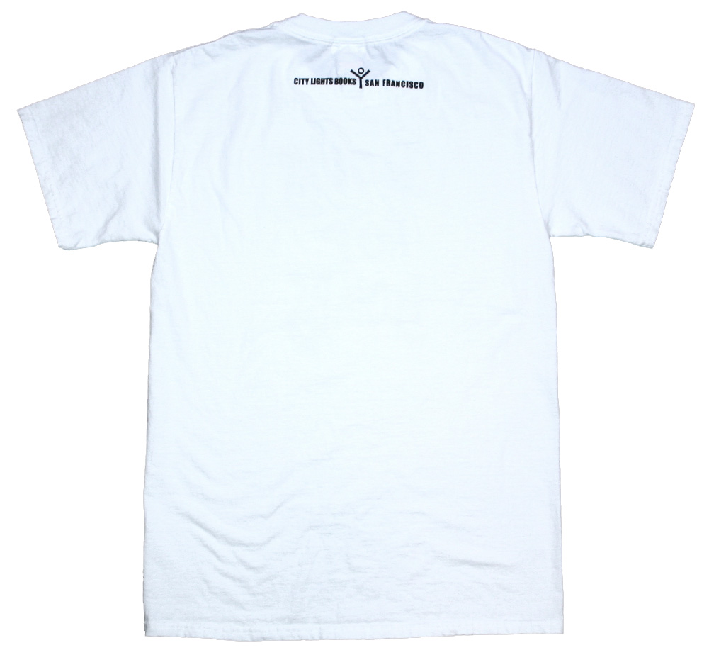 【City Lights Bookstore】 Lawrence Ferlinghetti / mulberry trees Tee (White)